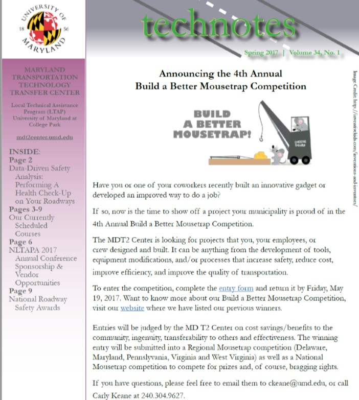 Spring 2017 Issue of Technotes